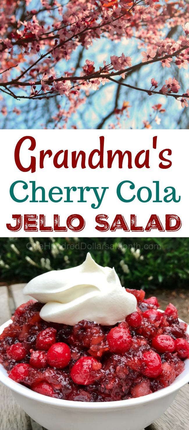 Grandmas Cherry Cola Jello Salad Recipe