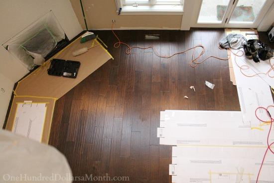 Mavis' Remodel Blog Day 34 – My New Kitchen Countertop, Dark Hardwood Floors Finally Get Installed