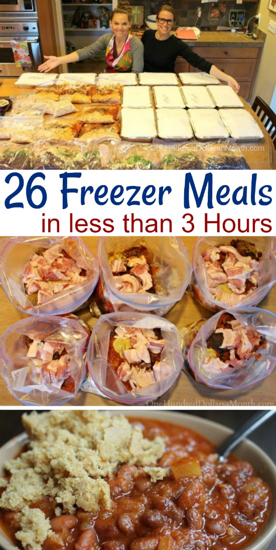 Making 26 Freezer Meals in 3 Hours