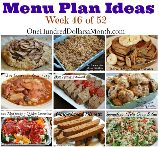 Weekly Meal Plan – Menu Plan Ideas Week 46 of 52