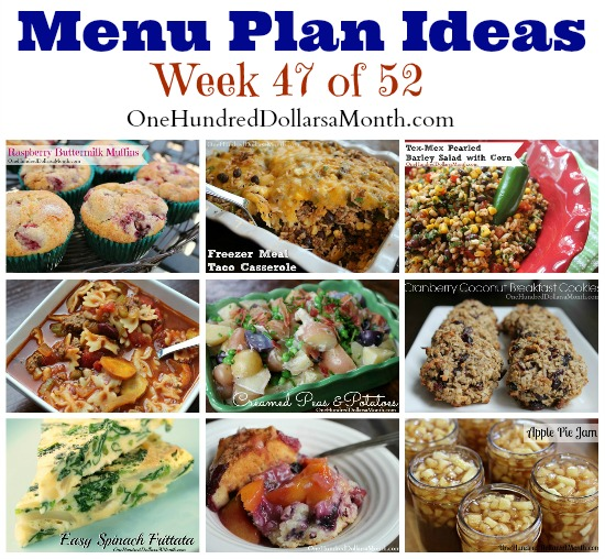 Weekly Meal Plan – Menu Plan Ideas Week 47 of 52
