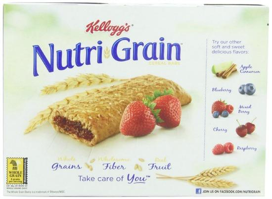 strawberry nurti grain bars
