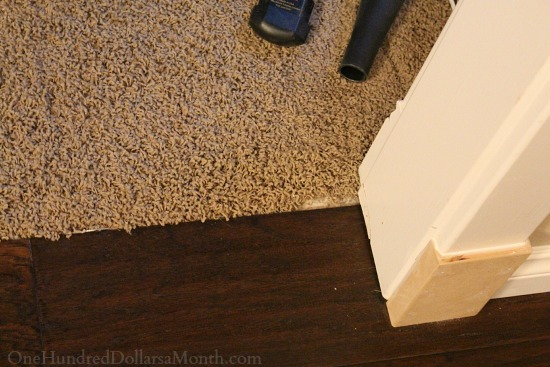 stretching carpet