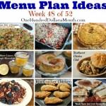 Weekly Meal Plan – Menu Plan Ideas Week 48 of 52