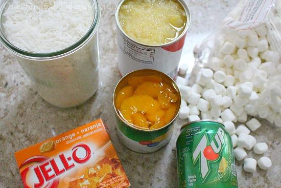7-Up Orange Jell-O Salad Recipe