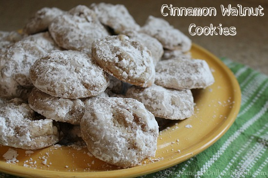 Cinnamon Walnut Cookies