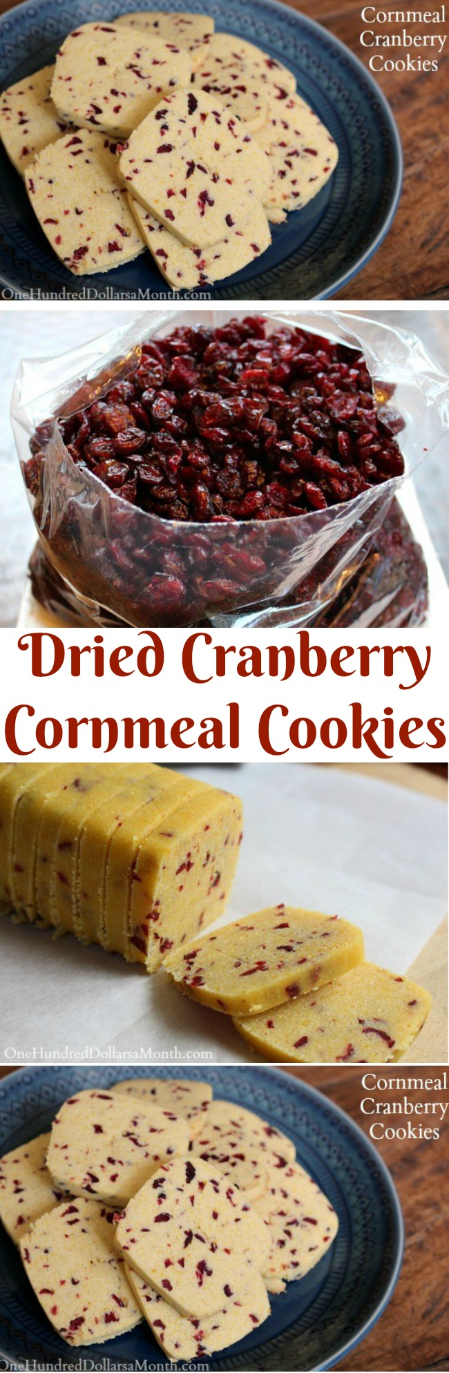 Cornmeal-Cranberry Cookies