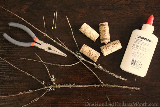 DIY Christmas Craft - Wine Cork Reindeer supplies