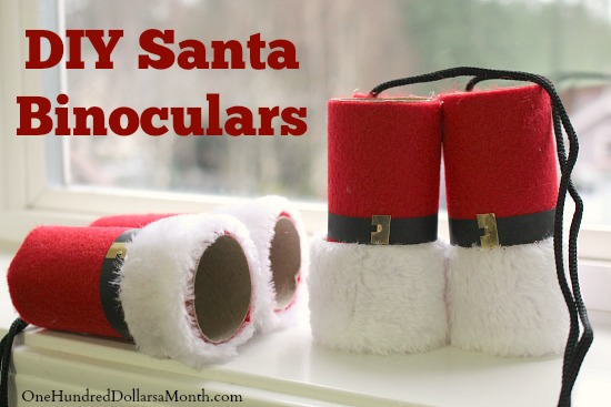 Easy Kids Christmas Craft – DIY Santa Binoculars