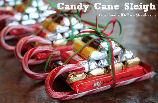 DIY Christmas Gift – Candy Cane Sleigh