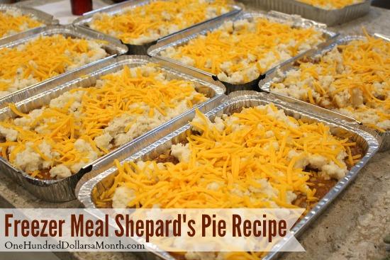 Freezer Meal Shepherd's Pie Recipe