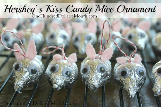Hershey Kiss Mice – Easy Ornaments the Kids Can Make