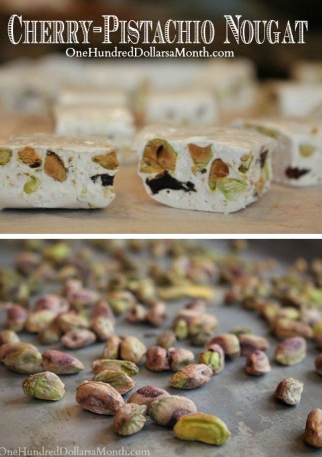 Homemade Cherry-Pistachio Nougat