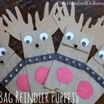Paper Bag Reindeer Puppets