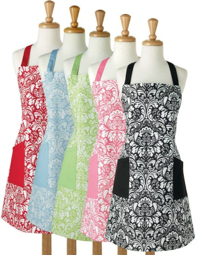 Printed Damask Chef Kitchen Apron