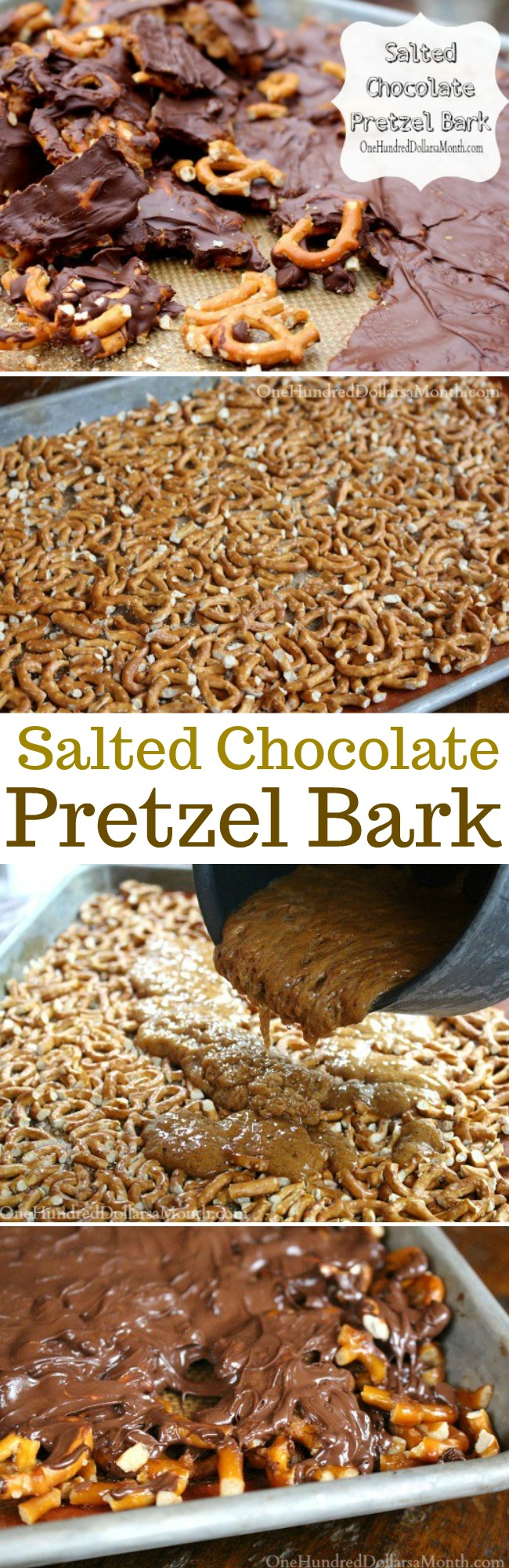 Salted Chocolate Pretzel Bark