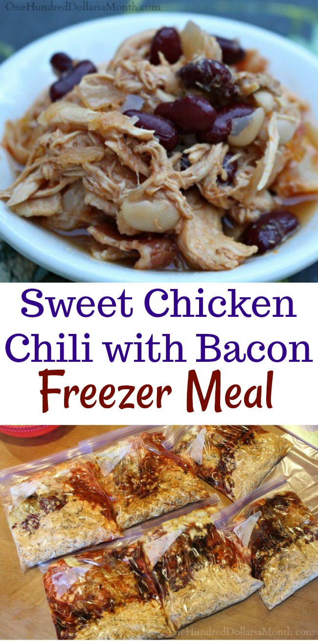 Easy Freezer Meal – Sweet Chicken Chili with Bacon