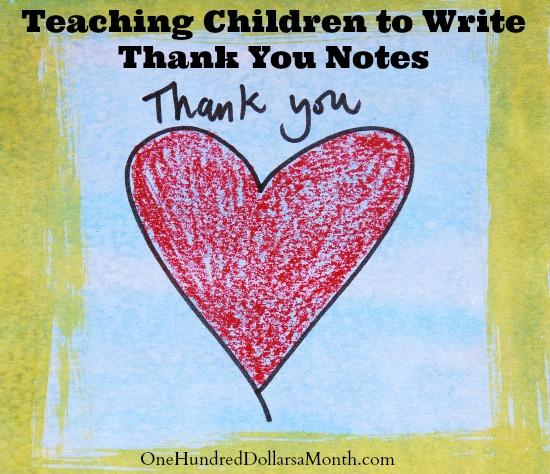 Teaching Children to Write Thank You Notes