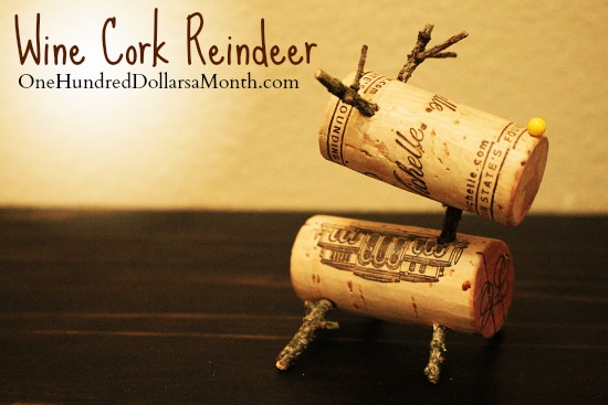 DIY Christmas Craft – Wine Cork Reindeer