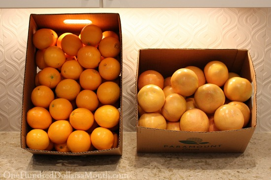 box of oranges and grapefruit