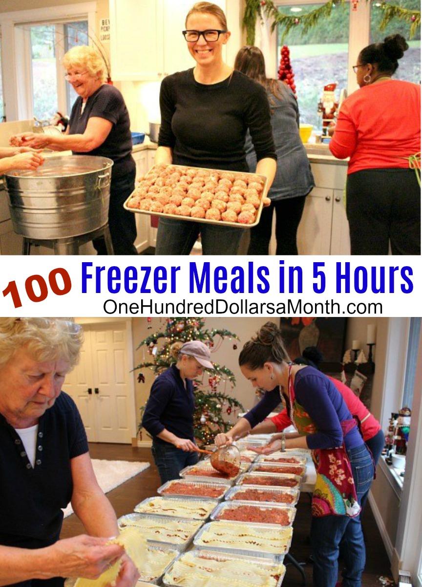 100 Freezer Meals in 5 Hours