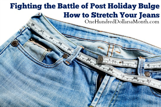 Fighting the Battle of Post Holiday Bulge – How to Stretch Your Jeans