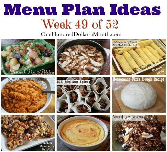 Weekly Meal Plan – Menu Plan Ideas Week 49 of 52