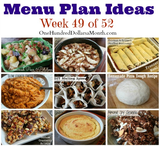 Weekly Meal Plan – Menu Plan Ideas Week 49 of 52