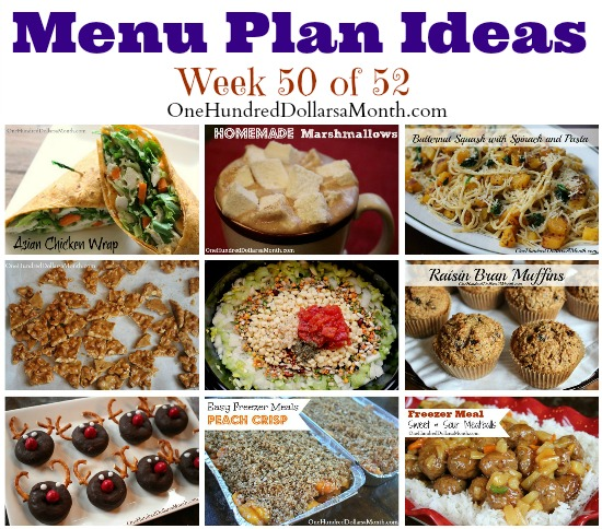 Weekly Meal Plan – Menu Plan Ideas Week 50 of 52