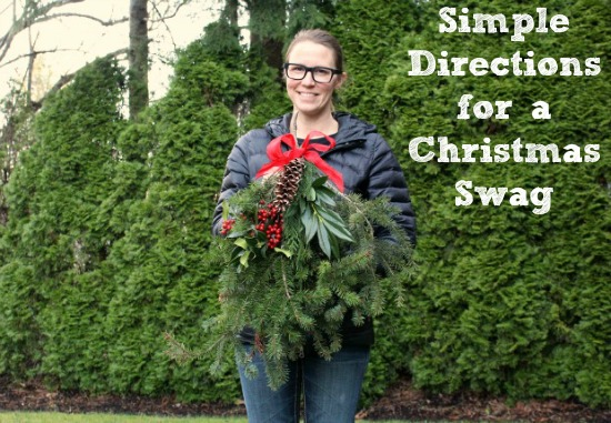 Easy Directions for a Handmade Christmas Swag