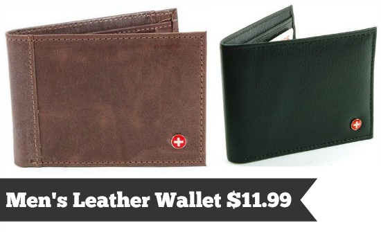 swiss leather wallet