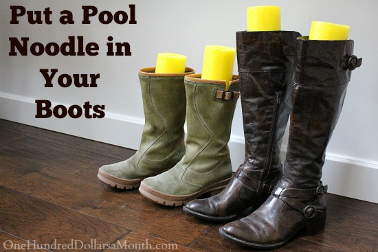 Closet Organization Tip – Noodle in Boots