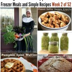 Cooking From Your Pantry  Menu Plan Ideas, Freezer Meals and Simple Recipes Week 2 of 52