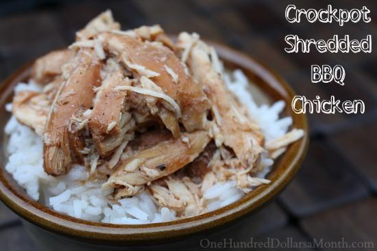 Crockpot Shredded BBQ Chicken