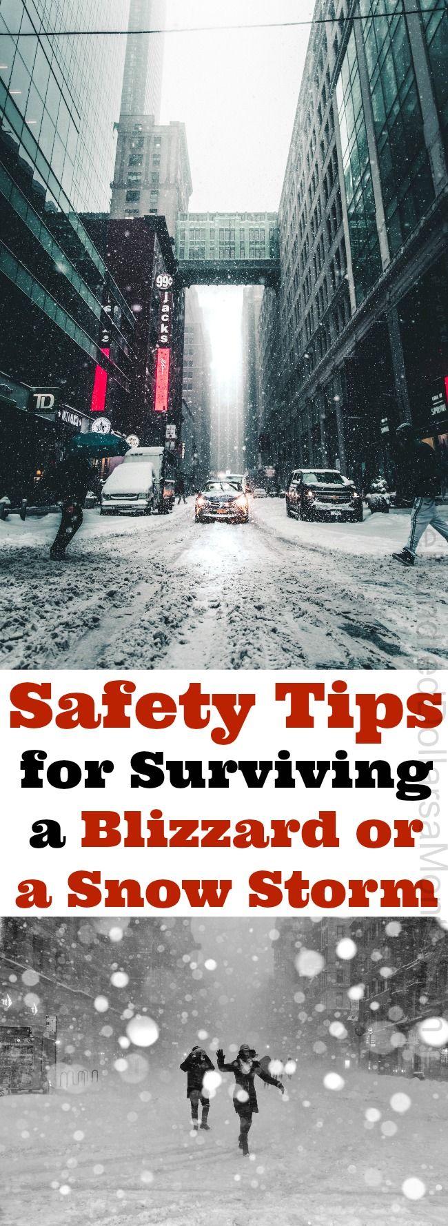 Safety Tips for Surviving a Blizzard or a Snow Storm