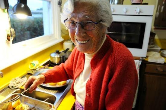aunt ruby in kitchen