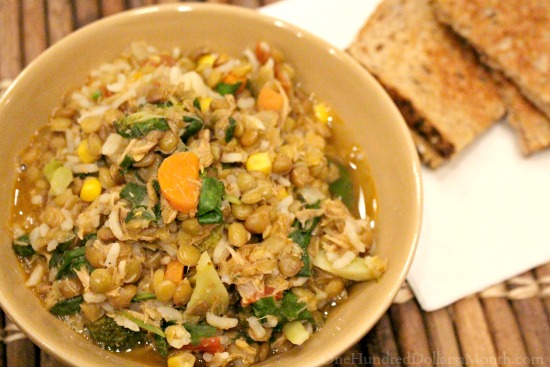 Fighting Food Waste : Turning My Leftovers into Chicken Lentil Stew
