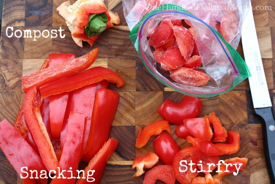 Penny Pinching Tip – Freeze the Tops of Your Peppers