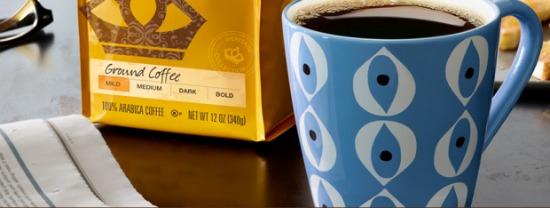 Gevalia ground coffee sample