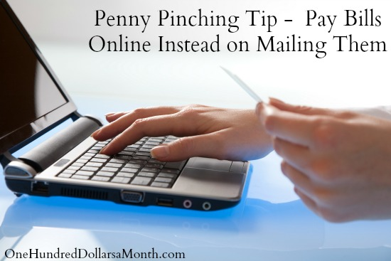 Penny Pinching Tip –  Pay Bills Online Instead of Mailing Them