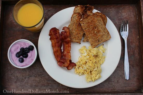 breakfast tray