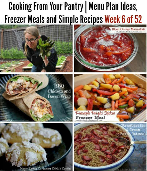 Cooking From Your Pantry | Menu Plan Ideas, Freezer Meals and Simple Recipes Week 6 of 52