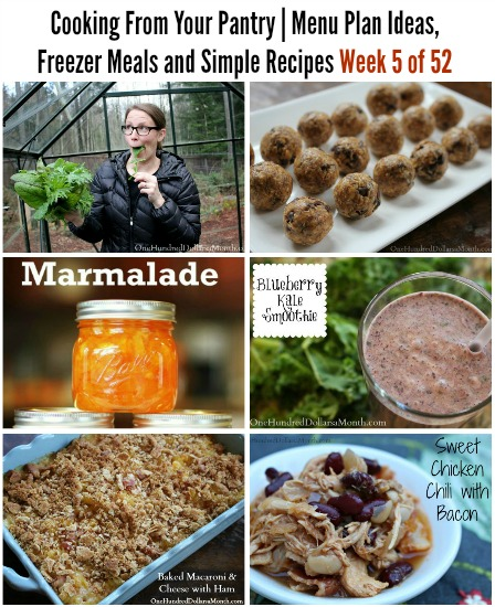 Cooking From Your Pantry | Menu Plan Ideas, Freezer Meals and Simple Recipes Week 5 of 52