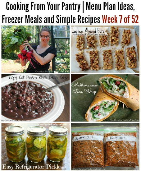 Cooking From Your Pantry | Menu Plan Ideas, Freezer Meals and Simple Recipes Week 7 of 52