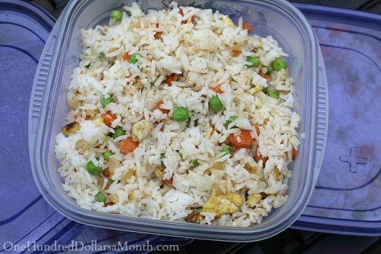 freezing fried rice