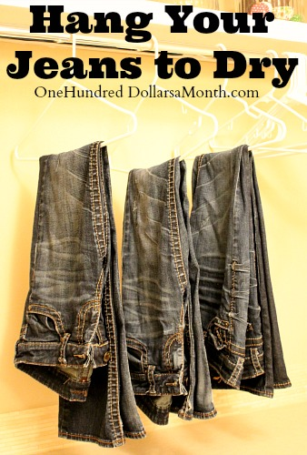 Penny Pinching Tip – Hang Your Jeans to Dry
