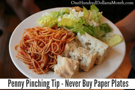 Penny Pinching Tip – Never Buy Paper Plates
