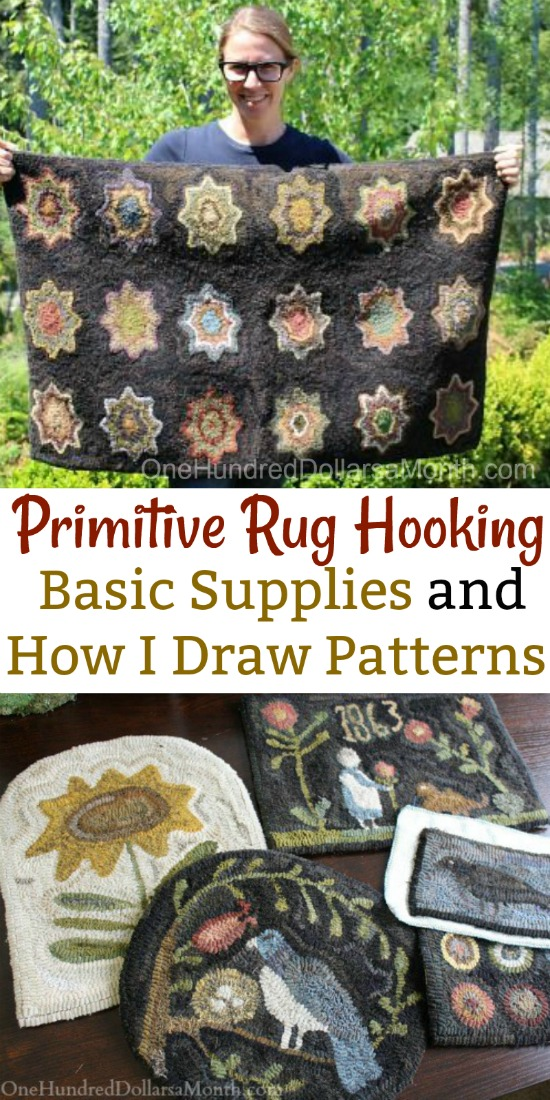Primitive Rug Hooking – Basic Supplies and How I Draw Patterns