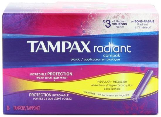 tampax radiant