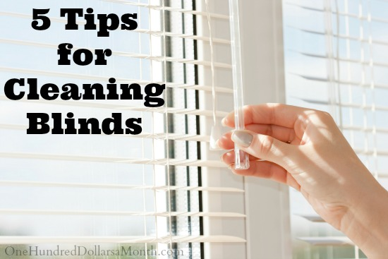 5 Tips for Cleaning Blinds
